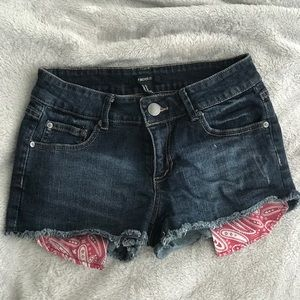 Forever 21 Dark Denim Short Shorts